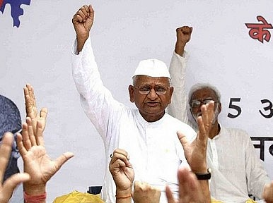 BJP Speaks at Hazare Fast