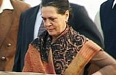 Sonia Gandhi Faces Press