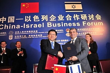 China in Middle of Israel, Iran