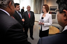 Julia Gillard Rolls the Dice