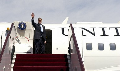 John Kerry Arrives in East Asia