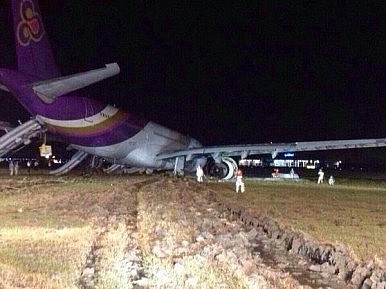 Plane Skids off Runway in Bangkok, 14 Injured