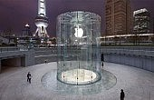 Apple Patents Cylindrical Glass Entryway at Shanghai Store