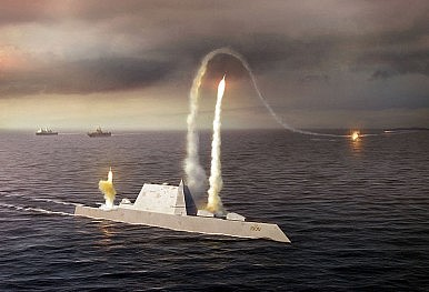 Capt. Kirk Takes Command Of The USS  Zumwalt