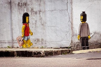 Malaysian Authorities Whitewash Street Artist's Lego Mural