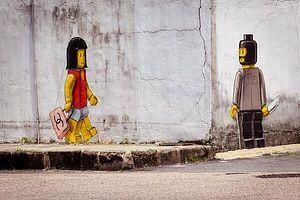 Malaysian Authorities Whitewash Street Artist's Lego Mural