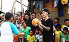 Justin Bieber Surprises Philippine Typhoon Victims With Secret Visit