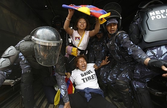 in a sensitive month  china touts progress in tibet