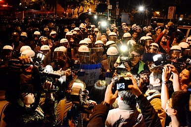 Riot Police Crack Down on Taiwanese Protesters