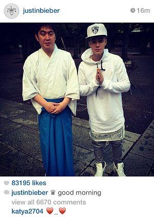 Justin Bieber Visits Japan's Yasukuni War Shrine