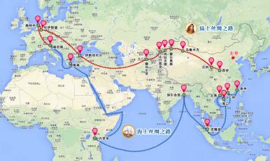 Xinhua Silk Road Map