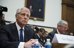 US Secretary of Defense Chuck Hagel Visits India