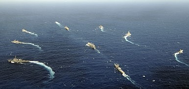 India, Japan, and the US Hold Joint Naval Exercises