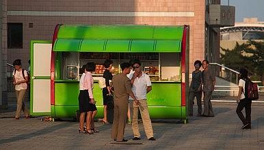 Imagenes vida diaria en el centro de Pyongyang