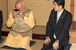 India's Modi and Japan's Abe Exchange Birthday Wishes... On Twitter