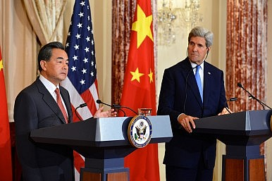 Chinese Foreign Minister Pressed on Hong Kong, Islamic State in DC Visit