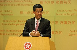 Hong Kong's Leader: Universal Suffrage Threatens Business Interests