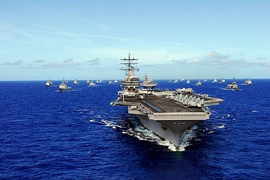Aircraft Carriers in the Taiwan Strait