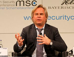 The CEO of Kaspersky Lab, Eugene Kaspersky, at the 2012 Munich Security Conference.