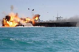 In A2/AD Showcase, Iranian Navy Sinks <em>Nimitz</em> Carrier Mock-Up