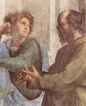 Xenophon and Socrates. Detail from Raphael's School of Athens.
