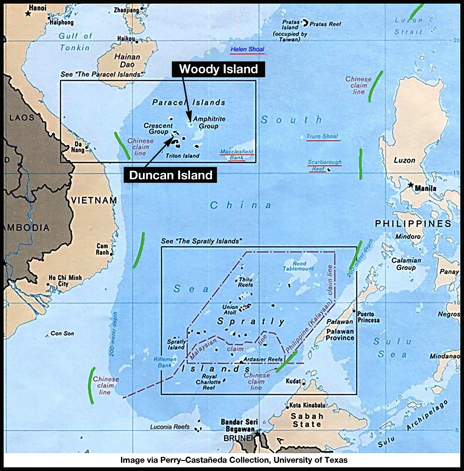 South china sea chinas blitzkrieg invasion while other nations map woody and duncan islands good caption fram new gumiabroncs Gallery