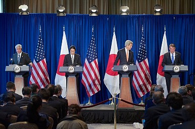 Japan, US Talk Okinawa, South China Sea at Ministers' Meeting