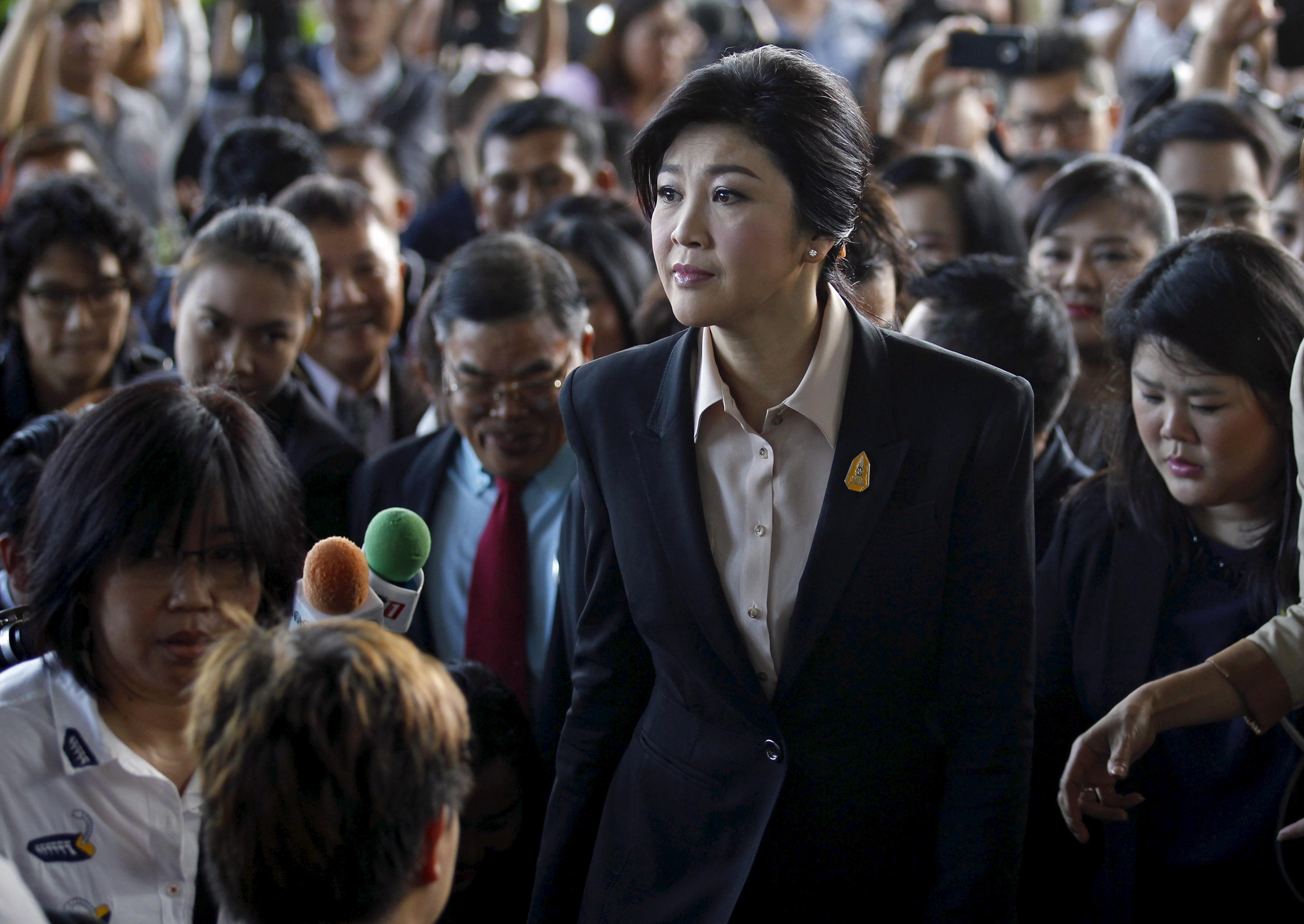 Yingluck Shinawatra, Primera Ministra entre 2011-2014, llega a la Corte Suprema de Bangkok, Tailandia, el 19 de mayo de 2015 | Fuente: Chaiwat Subprasom / Reuters