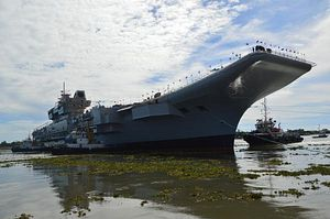 India's INS Vikrant Aircraft Carrier Successfully Undocks