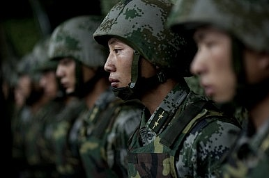 China Stages Military Exercise Along Myanmar Border