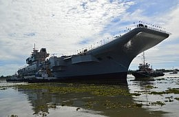 India's INS <em>Vikrant</em> Aircraft Carrier Successfully Undocks