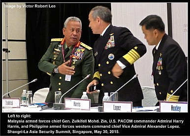 revised 2.1M Admiral Harry Harris and Malaysia & Philippines Admirals Shangri-La 30 May 2015