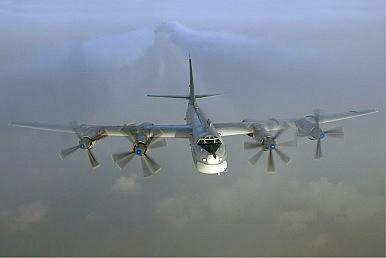 Russian Tu-95 Strategic Bomber Crashes
