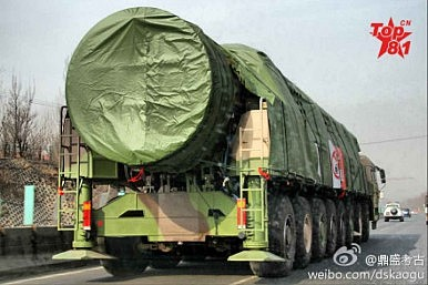 China Flight Tests Multiple Warhead Missile Capable of Hitting All of US