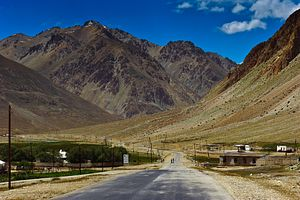 Tajik Leader in China, Building Roads