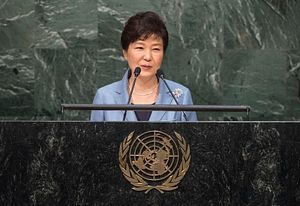 Citing Iran, South Korea's President Urges UN to Focus on North Korea