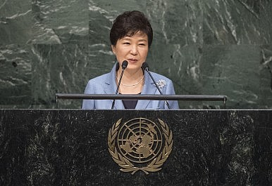 Citing Iran, South Korea's President Urges UN to Focus on North Korea