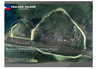 Aerial view of Pagasa Island