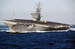 US Fighter Jets Intercept Russian Aircraft Approaching US Aircraft Carrier