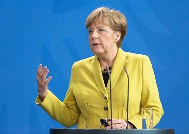 In China, Germany's Merkel Talks Trade, Syria, and South China Sea