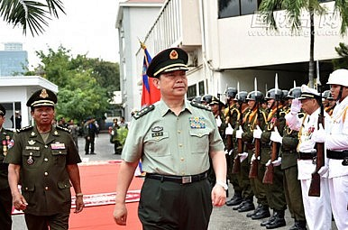 China Navy Fleet Visits Cambodia