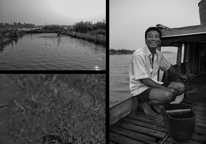 A smiling Ngo Than Thai and his ponds. Photos by Gareth Bright.