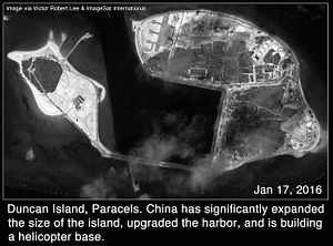 Satellite Images: China Manufactures Land at New Sites in the Paracel Islands