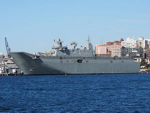 HMAS Canberra to the Rescue in Fiji