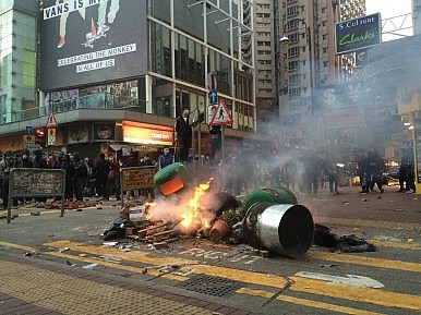 Fires, Gunshots, and Violence Mar Latest Hong Kong Protest