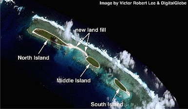Satellite Imagery: China Expands Land Filling at North Island in the Paracels