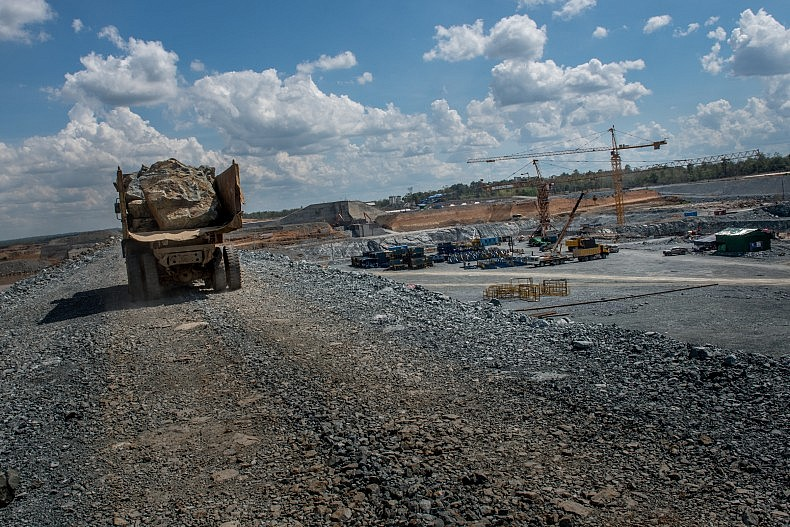 The construction site of the Sesan II dam. Photo by Luc Forsyth.