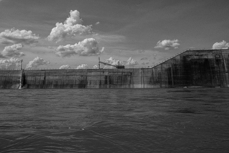 The construction site of the Sesan II dam. Photo by Gareth Bright.