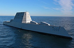 US Navy's Newest Stealth Warship Breaks Down