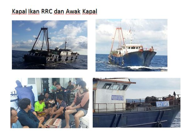Images of the Kway Fey and her crew, released by the KKP